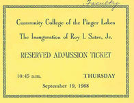image of ticket for inauguration