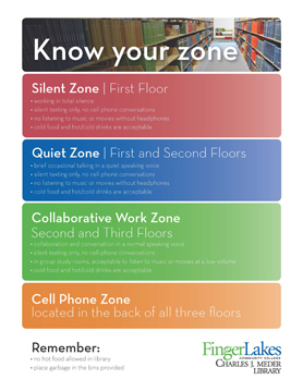 Library zones web page